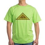 Golden Aztec Eagle Green T-Shirt