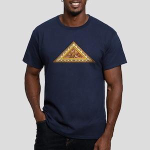 Golden Aztec Eagle Men's Fitted T-Shirt (dark)