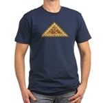 Golden Aztec Eagle Men's Fitted T-Shirt (dark)