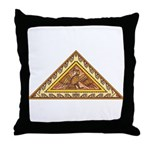 Golden Aztec Eagle Throw Pillow
