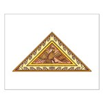 Golden Aztec Eagle Small Poster