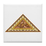 Golden Aztec Eagle Tile Coaster