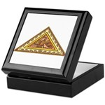 Golden Aztec Eagle Keepsake Box