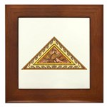 Golden Aztec Eagle Framed Tile