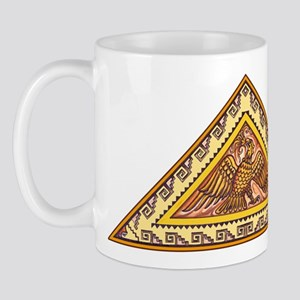 Golden Aztec Eagle Mug