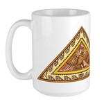 Golden Aztec Eagle Large Mug
