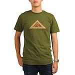 Golden Aztec Eagle Organic Men's T-Shirt (dark)