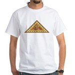 Golden Aztec Eagle White T-Shirt
