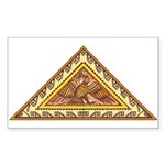 Golden Aztec Eagle Sticker (Rectangle)