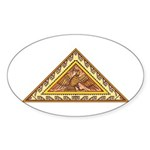 Golden Aztec Eagle Sticker (Oval 10 pk)