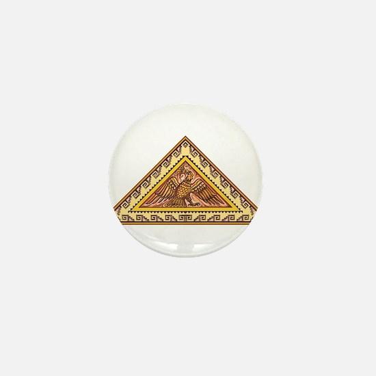 Golden Aztec Eagle Mini Button
