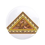 "Golden Aztec Eagle 3.5"" Button"