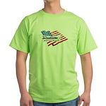 Wrestling, USA Martial Art Green T-Shirt