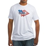 Wrestling, USA Martial Art Fitted T-Shirt