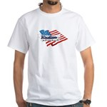 Wrestling, USA Martial Art White T-Shirt