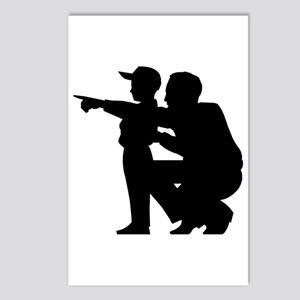 Coaching Silhouette Postcards (Package of 8)