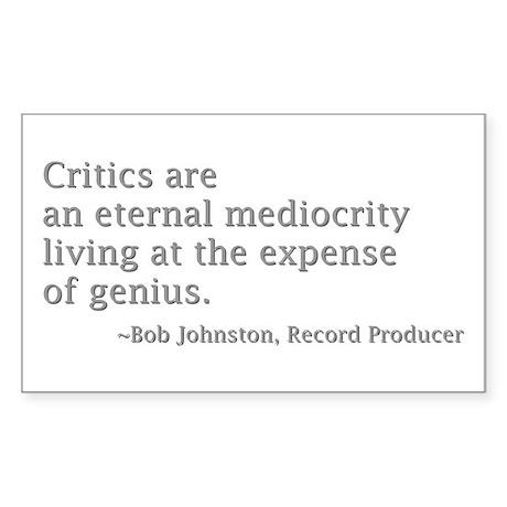 Critics Sticker (Rectangle)