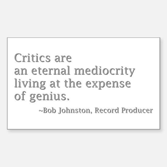 Critics Sticker (Rectangle)