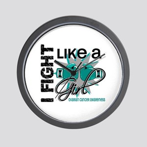 Licensed Fight Like A Girl 13.1 Ovarian Wall Clock