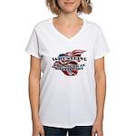 Wrestling USA Martial Art Women's V-Neck T-Shirt