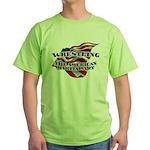 Wrestling USA Martial Art Green T-Shirt