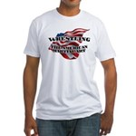 Wrestling USA Martial Art Fitted T-Shirt