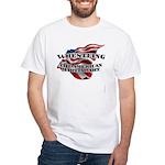 Wrestling USA Martial Art White T-Shirt