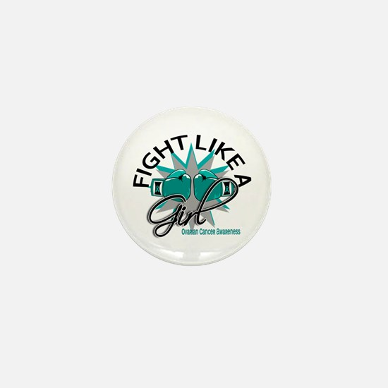 Licensed Fight Like A Girl 12.3 Ovaria Mini Button