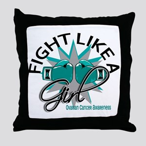 Licensed Fight Like A Girl 12.3 Ovari Throw Pillow