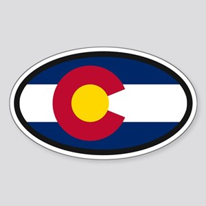 Colorado Flag Sticker (Oval)