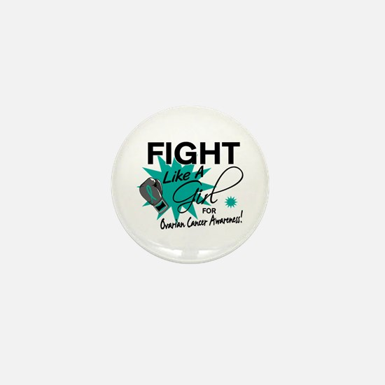 Licensed Fight Like A Girl 11.4 Ovaria Mini Button