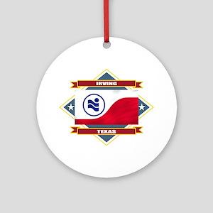 Irving Flag Ornament (Round)