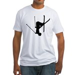 Freestyle Skiing Fitted T-Shirt