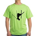 Freestyle Skiing Green T-Shirt