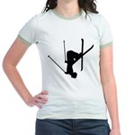 Freestyle Skiing Jr. Ringer T-Shirt