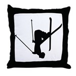 Freestyle Skiing Throw Pillow