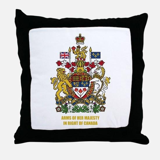 Canadian COA Throw Pillow