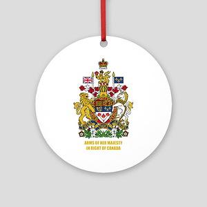Canadian COA Ornament (Round)