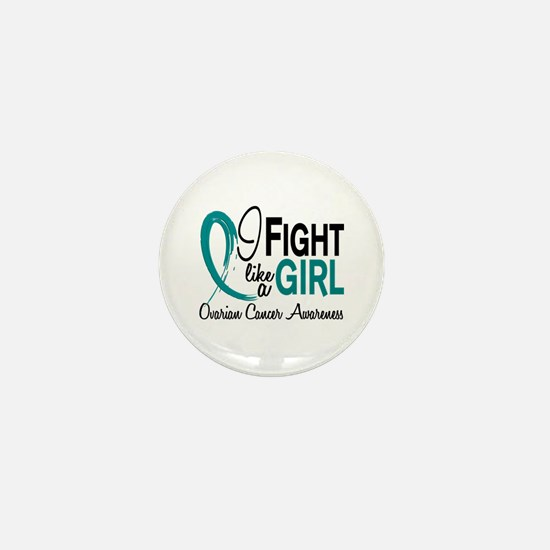 Licensed Fight Like A Girl 10.1 Ovaria Mini Button