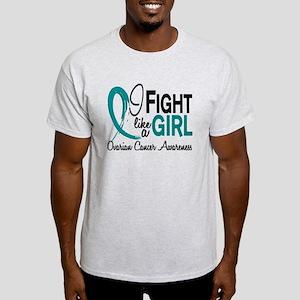 Licensed Fight Like A Girl 10.1 Ovar Light T-Shirt
