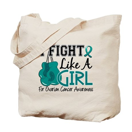 Licensed Fight Like A Girl 15.5 Ovarian C Tote Bag