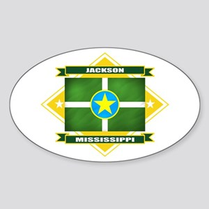 Jackson Flag Sticker (Oval)