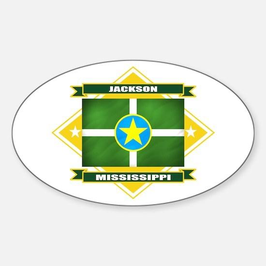Jackson Flag Sticker (Oval)