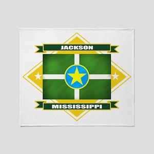 Jackson Flag Throw Blanket