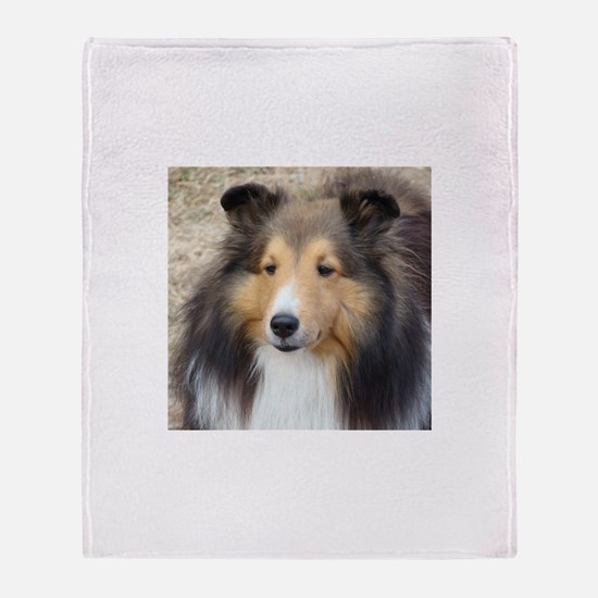 Cute Sheltie Throw Blanket