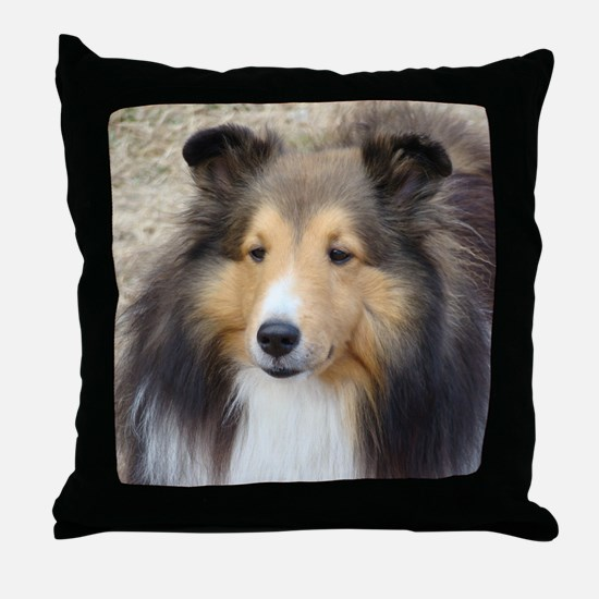 Cute Shetland sheepdog Throw Pillow