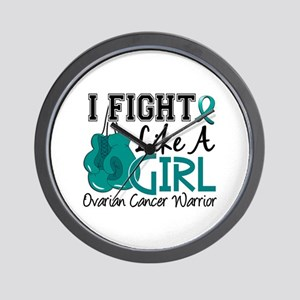 Licensed Fight Like A Girl 15.2 Ovarian Wall Clock
