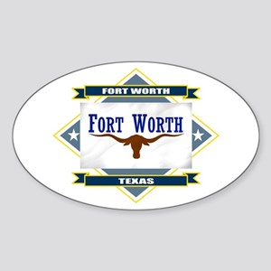 Fort Worth Flag Sticker (Oval)