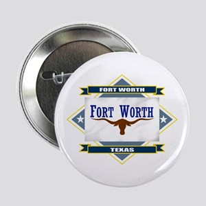 "Fort Worth Flag 2.25"" Button"