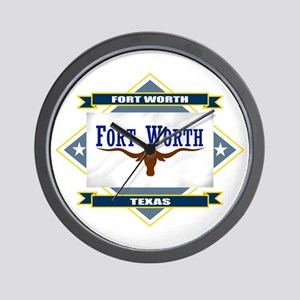 Fort Worth Flag Wall Clock